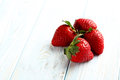 Ripe red strawberry Royalty Free Stock Photo