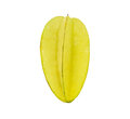 Ripe starfruit i over white background Stock Images