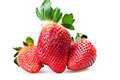 Ripe strawberries Stock Image