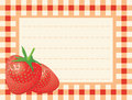 Ripe strawberry on chequered background Royalty Free Stock Images
