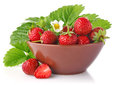 Ripe strawberry in tureen Stock Image