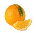 Ripe sweet orange Royalty Free Stock Image