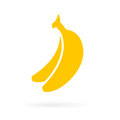 Ripe yellow bananas vector icon