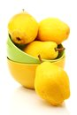 Ripe yellow pears in bowl. Royalty Free Stock Photography