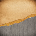 Riped vintage paper on grunge background place for your content Royalty Free Stock Photography