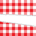 Ripped retro tablecloth texture Stock Images