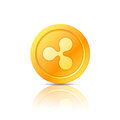 Ripple coin symbol, icon, sign, emblem. Vector illustration.