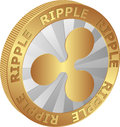 Ripple isolated coin of vector illustration Royalty Free Stock Images