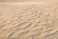 Ripple marks caused by wind action on sand dunes Stock Photo