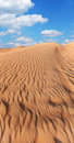 Rippled sand in desert. Royalty Free Stock Photo