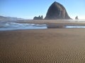 Ripples in sand at Canon Beach, Oregon Royalty Free Stock Photo