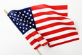 Ripples in US Flag on Pole Royalty Free Stock Photo