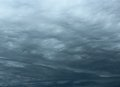 Rippling stormy clouds in the sky Royalty Free Stock Photography