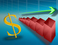 Rise in the dollar (02) Stock Image