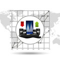 Rise and fall prices oil industry growth diagram background Royalty Free Stock Photo