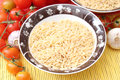 Rise noodles some dried rice in a bowl Royalty Free Stock Photography