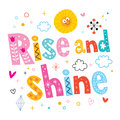 Rise and shine decorative type lettering design Stock Photo