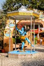 Statue of Lord Shiva in Parmath Niketan Ashram Royalty Free Stock Photo