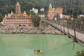 RISHIKESH, INDIA - JAN 03: Unidentified people rafting on Ganga Royalty Free Stock Photo