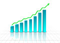 Rising business graph Royalty Free Stock Photo