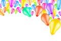 Rising colorful balloons Royalty Free Stock Image
