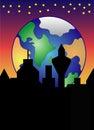 Rising Earth Royalty Free Stock Photo