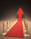 Rising fame red carpet arrow shaped up your text next to the arrow Royalty Free Stock Image