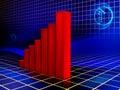 Rising graph Royalty Free Stock Photo