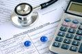 Rising medical cost Royalty Free Stock Photo