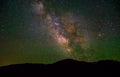 The Rising Milky Way over Colorado Mountains