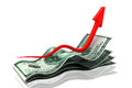 Rising money charts Royalty Free Stock Photo