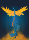 Rising phoenix digital painting a colorful of Royalty Free Stock Photos