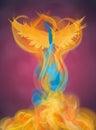 Rising Phoenix Illustration Royalty Free Stock Photo