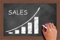 Rising sales graph