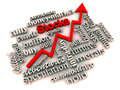 Rising stocks and investment market Royalty Free Stock Photo