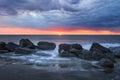Rising Sun Charleston South Carolina Folly Beach Royalty Free Stock Photo