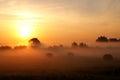 Rising sun. Royalty Free Stock Photo