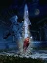 Rising sword