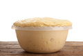 Rising Yeast Dough in bowl Royalty Free Stock Photo