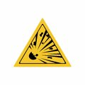 Risk of explosion sign vector