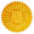 Risk free icon Royalty Free Stock Photography