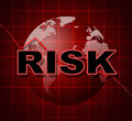 Risk graph shows infochart beware and risky meaning hazard statistics Royalty Free Stock Photo
