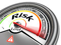 Risk level conceptual meter on white background Royalty Free Stock Photos
