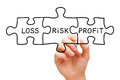 Risk Loss Profit Puzzle Concept Royalty Free Stock Photo