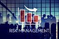 Risk Management Diagram Graph Arrow Concept Royalty Free Stock Photo