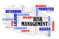 Risk Management word cloud Royalty Free Stock Photo