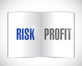 Risk or profit illustration design over a white background Stock Photos