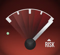 Risk speedometer illustration design graphic Stock Photography