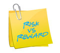 Risk vs reward post illustration design over a white background Stock Image