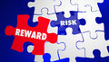 Risk Vs Reward ROI Return Investment Puzzle Royalty Free Stock Photo